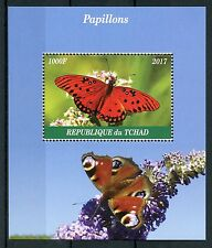 Chad 2017 MNH Butterflies 1v M/S Insects Peacock Butterfly Stamps