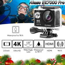 4K AKASO EK7000 Pro Action Camera with Helmet Accessories Kit Adjustable Angle