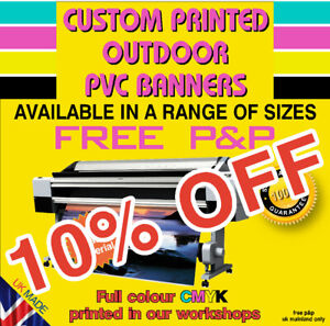 PVC Banner Printed Outdoor Vinyl Sign for Business Parties Birthdays Shop