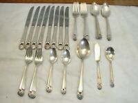 Set 1847 Rogers Bros Silver Plated Eternally Yours Flatware 42 pcs svc for 8