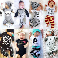 AU STock Newborn Baby Boys Girls Romper Bodysuit Jumpsuit Outfits Set Clothes