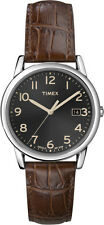 T2n948 Elevated Classic Dress Timex Watch Mens Black Dial Brown Leather T2N9489J