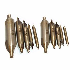 10tlg Zentrierbohrer 1mm - 5 mm 60° HSS Bohrer Center Drill Bit Kegelsenker Set