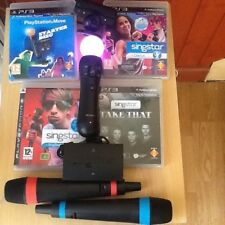 Singstar dance (PS3 )party bundle  just &sing games Move camera wireless Mics