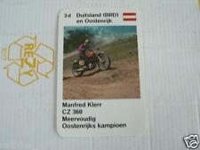 23 MOTO-CROSS 3D GERMANY MANFRED KLERR CZ 360 KWARTET KAART, QUARTETT CARD,