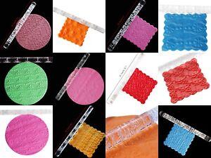 Cake Design Acrylic Embossed Roller Rolling Pin Patterned Fondant Icing UK