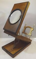 Antique Victorian Martinet Rosewood Stereoscope Viewer with Single Lense