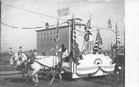 Anoka Minnesota~Patriotic Parade Float~Pillsbury Lincoln Mill~Costumes~1911 RPPC