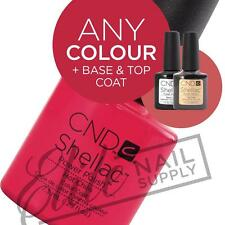 CND SHELLAC UV Color Coat 7.3ml - Any 1 Colour + Base + Top + FREE CND Wraps