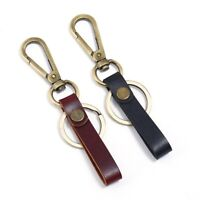 1PC Leather Belt Keychain Key Ring Holder Key Fob Buckle Clip Loop Keyring Polis