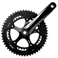 SRAM Apex 2x10 Speed Road Bike Crankset Black/White 39/53 x 170mm