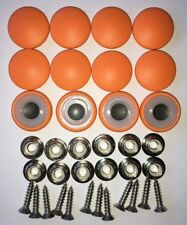 12 Dura Snap Upholstery Buttons Bright Orange Choice Of Size And Screws
