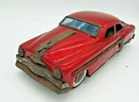 1950`s Red Minster Pontiac Chieftain Streamliner Tin plate, friction drive, car