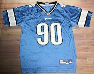 Reebok On Field NFL Football Detroit Lions Ndamukong Suh #90 Jersey Youth Large