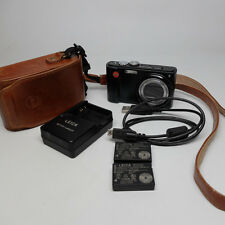 Leica V- Lux 20 12 mp Digital Camera Point and Shoot 2 Batteries Leather Case