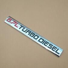 Metal chrome Red & Black 6.7L TURBO DIESEL Logo Emblem Sport Auto Badge Decal