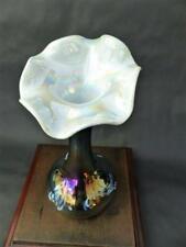 Unique Art Nouveau Iridescent Glass Vase - Jack In The Pulpit Glass Vase