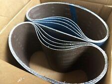 """Blue Zirconia 8"""" x 29.5"""" 50 Grit Floor Sanding Belts - Hummel Lagler (Box of 10)"""