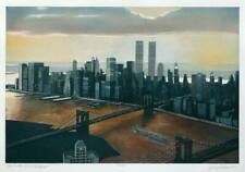 Richard Haas, Manhattan View, Twilight, Colour Etching, Handsigned, numbered, ti