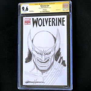 Wolverine #310 (2012) 💥 CGC 9.6 SS 💥 ORIGINAL SKETCH by GREG HORN! Comic