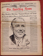 OCTOBER 26, 1963 SPORTING NEWS ST. LOUIS CARDINALS BING DEVINE ON COVER BASEBALL