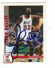 Autographed 1992-93 Sky Box John Salley Miami Heat Basketball card #414