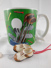 Burton & Burton 2005 Golf coffee Mug Cup Golfing theme with ornament