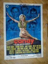 "Italian Movie Two Sheets Poster ""Candy"" 1970 Brando, Burton, Coburn, Ringo Star"
