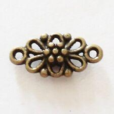 10pcs Antique Bronze Flower Connector Charms 16x8mm - B14463