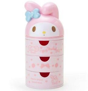 Cute Melody Women Girls 3 Layers Desk Jewelry Box Cosmetic Case Stationery Box