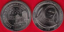 """Colombia 5000 pesos 2015 """"Santa Laura Montoya"""" UNC"""