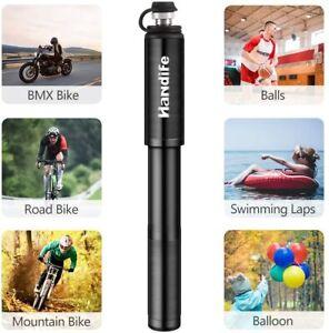Mini Bike Pump Portable Bicycle Tyre Inflator Hand Pump  Presta & Schrader Valve