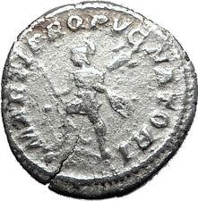 CARACALLA 213AD Rome Authentic Genuine Silver Ancient Roman Coin Mars i60413