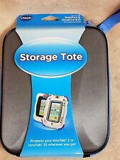 VTECH INNOTAB 2 or 2S Storage Tote Gray Black Hard Shell Zips Blue New