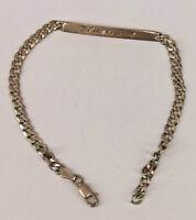 "99825668 Armband 925er Silber Panzergleider Gravurplatte ""Susanne"" 19x0,4cm"