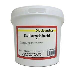 Kaliumchlorid E508 in Pharmaqualität 2,5kg