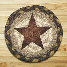 GOLD STAR 100% Natural Braided Jute Coaster Set of 4 with Jute Basket