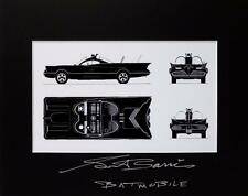 *GEORGE BARRIS SIGNED MATTED PHOTO DISPLAY AUTHENTIC AUTOGRAPH BATMAN BATMOBILE*