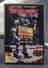 "Piston Robot Vintage Advertising - 2"" X 3"" Fridge / Locker Magnet. Japanese Toy"