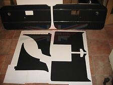New 6 Piece Interior Panel Set with Door Panels MGB 1970-80 Black with Chrome