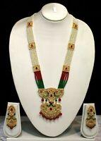 Indian Legendry Mughal Era Multi String  Pearl Necklace Ethnic Designer Set