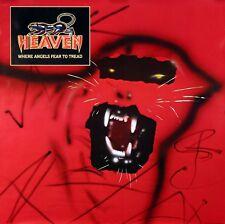 HEAVEN 1983 WHERE ANGELS FEAR RARE HEAVY-METAL POSTER ORIGINAL