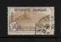 "FRANCE 1917-18 Y&T 153 ""ORPHELINS 50c+50"" OBLITERE TB"