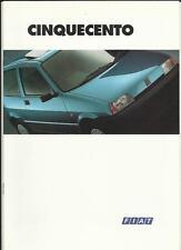FIAT CINQUECENTO AND  SX  SALES BROCHURE 1994