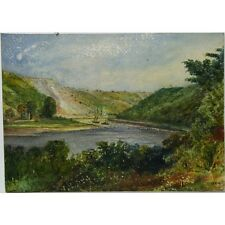 J K Morgan Traditional Landscape Avon Gorge Bristol c1810 Watercolour Painting