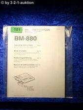 Sony Bedienungsanleitung BM 880 Transcriber (#0151)