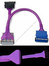 """4pk 2ft/24""""inch Dual 2 device IDE HD/CD/DVD 133 PATA Round Cable/Cord {UV PURPLE"""