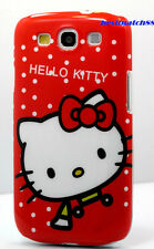 for samsung galaxy S3 phone case hello  kitty red white polka dot / S III