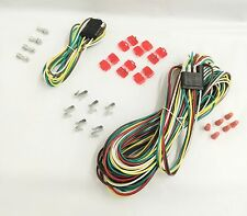 25' 4 Way Trailer Wiring Connection Kit Flat Wire Extension Harness Boat Car RV