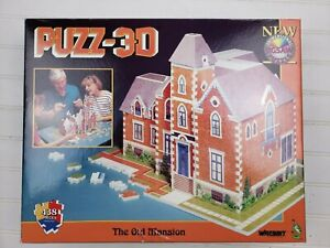 1991 WREBBIT--PUZZ 3D--THE OLD MANSION PUZZLE COMPLETE